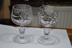 2 darab talpas kristály pohár