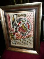 Molnár Béla régi expresszionista festménye nagyon szép keretben eladó