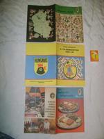 Retro szakács füzet - három darab - 1967/69/84