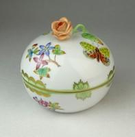 0Q435 Viktória mintás Herendi porcelán bonbonier