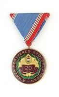 0Q306 Kitüntetés 20 év a haza szolgálatában