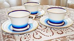 Art deco meisseni porcelán teás csészék, aljjal