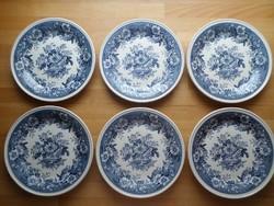 6 db Villeroy & Boch Mettlach Balmoral porcelán kistányér süteményes tányér 21 cm