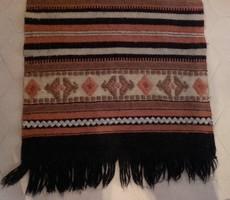 Régi kézi szövésű gyapjú szőnyeg, futószőnyeg,faliszőnyeg  168 cm x 52 cm +  6 - 6 cm rojt