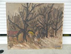 LEÁRAZTAM  ! Lipták Pál festménye eredeti festménye olaj/ fa