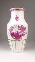 0Q389 Indiai kosaras Herendi porcelán váza 19.5 cm