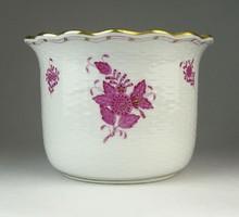 0Q425 Lila Apponyi mintás Herendi porcelán kaspó