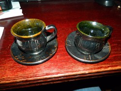 LEÁRAZTAM ! Bagossy Sándor fazekas népi iparművész : kávés csésze pár