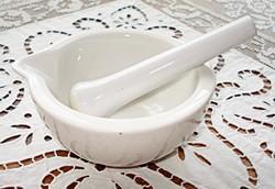 Drasche porcelán mozsár és törő