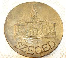 Szeged, bronz emlékplakett