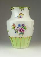 0Q453 Viktória mintás Herendi porcelán váza 16 cm