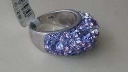 Svarovski ezüst gyűrű 925