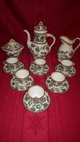 Antik angol Minton porcelán teáskészlet 6 személyre / 1862.