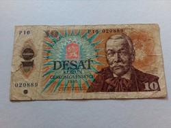 1986-os 10 cseh korona