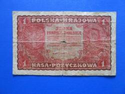 Lengyelország 1 marka 1919.