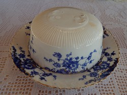 Antik ROYAL ALBERT <3 mákvirágos sajt vagy ételtartó  c.1896 - 1904