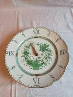 Herendi Indiai kosármintás porcelán tányéróra, fali óra