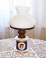 Porcelán petróleum lámpa /foglalattal