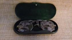 Régi katonai alpakka  keretes optikai szemüveg ,okuláré