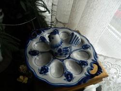 Orosz / szovjet tojástartó kínáló kobaltkék díszítéssel