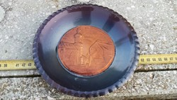Sopron bronz tányér emléktárgy