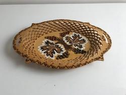 Fa tálca, kínáló, asztalközép szőlő mintával a vidéki stílus kedvelőinek is