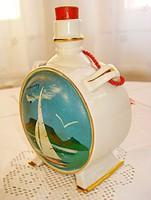 Régi Drasche porcelán kulacs Balaton dekorral  /13,5 cm/