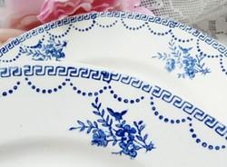 Francia fajansz reggeliző tányérok 7db