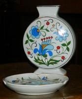 TAVASZI AKCIÓ ! Lengyel LUBIANA asztalközép : hamutál + váza