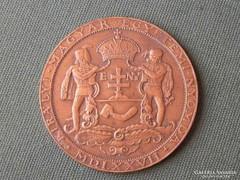 Ősnyomtatvány Nyomda 1577 bronz plakett érme tallér méretű Nagyszombat