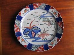 Antik, imari porcelán tál (34 cm)