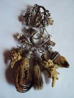Csodaszép Vadász kabát kitűző,díszeivel,835-ös ezüst,és ezüst ötvözet