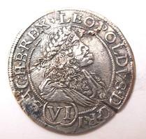 I. Lipót VI krajcár 1676 Pozsony.