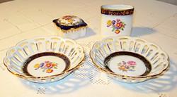 RETRO  porcelán kínáló készlet