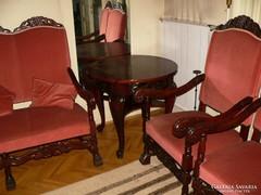 Antik elegáns meseszép barokk ülőgarnitúra asztallal