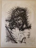 Perlrott Csaba Vilmos: Töviskoronás Krisztus (1921)  litográfia