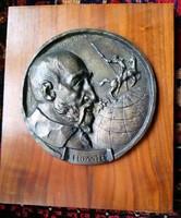 Olcsai-Kiss Zoltán Cervantes nagy méretű bronz  plakett