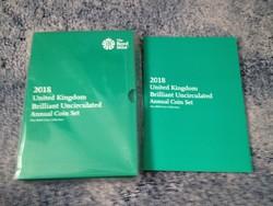 Anglia - Angol 2018 teljes érmesor, 13 db, 2018 BUNC, Royal Mint csomagolásban