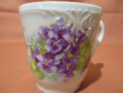 Antik ibolyás csésze
