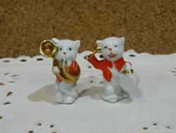 Német porcelán zenélő macik.