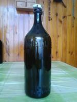Régi csatos KRISTÁLY LUKÁCSFÜRDŐ üveg palack
