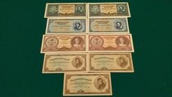 9 db KÜLÖNBÖZŐ MAGYAR ANTIK RITKA BANKJEGY:1.000.000,10 és 100 MILLIÓ PENGŐ, 1 MILLIÁRD UNC v. aUNC