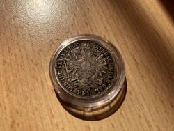 1887 ezüst 1 florin,szép patinás darab,ritkább
