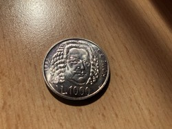 1985 San Marino ezüst 1000 líra 14,6 gramm 0,835 Ritka