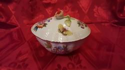 Herendi Viktória mintás porcelán nagy méretű bonbonier