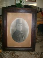 Antik katona fotó korabeli keretében - 86 x 67 cm