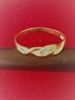 Arany 18K gyűrű briliáns kővel, certifikáttal
