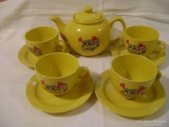 4 sz. Retró hangulatú porcelán teáskészlet