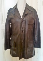 Vintage férfi egyiptomi bőr kabát, zakó fazon, 50