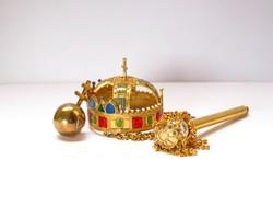 Miniatűr koronázási ékszerek,aranyozott ezüst,Pénzverő.